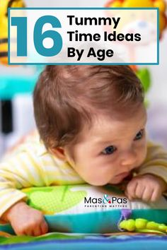 When should you start tummy time? What on earth do you do if your baby really doesn't like it? Here are 16 tummy time ideas to make it more fun for your baby. Baby Milestone Chart, Baby Tummy Time, Taking Care Of Baby, Baby Care Tips, Baby Sensory, Baby Learning, Baby Development, Baby Milestones, Baby Play