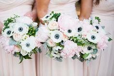 gorgeous anemone bouquets   Lauren Friday #wedding