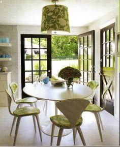 5275e1bd03b96 Interiors by Jonathan Adler Saarinen Table, Eero Saarinen, Kitchen Design,  Ikea Kitchen,