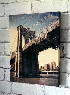 Photo Of Brooklyn Bridge Printed On Canvas