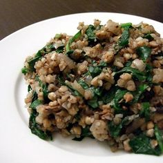 Buckwheat Risotto with Spinach and Mushrooms gluten-free, dairy-free ...