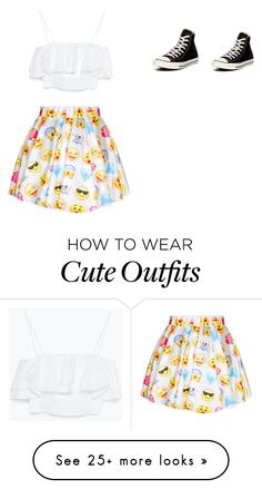 """Emoji outfit"" by courtneyarnold1 on Polyvore featuring Converse and Zara"