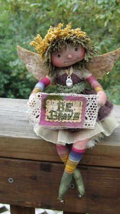 Sweet Little Angel Fairy by weefae on Etsy, $45.00
