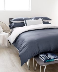 Navy lovers, your dreams have been answered. 🙏 We are so proud to introduce our reversible Duet collection in Midnight/Silver. Woven from the softest, silkiest cotton satin and made right here in Canada. Between The Sheets, Navy Bedding, Silver Pillows, Fine Linens, King Beds, Beautiful Bedrooms, Duvet Covers, Modern Design, Linen Closets