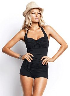 retro style one piece swimsuit - very sexy.. I know Summer is almost over, but I want it!