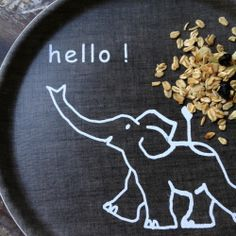 Image of Kids Linen Tray: Hello Elephant