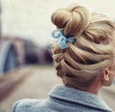 French braid ballerina bun