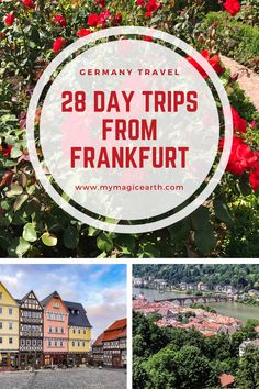Whether youre longing to explore medieval castles wine valley or scenic rivers some great day trips from Frankfurt are the perfect budget choices. European Travel Tips, Europe Travel Guide, Travel Guides, Europe Destinations, Amazing Destinations, Germany Travel, Cool Places To Visit, Day Trips, Budget