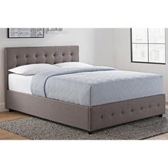 DHP Cambridge Upholstered Panel Bed | Hayneedle