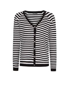 MANGO - STRIPED KNIT CARDIGAN