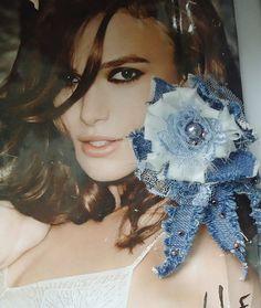 Textile earrings blue fiber earrings round Textile by eMDdesign