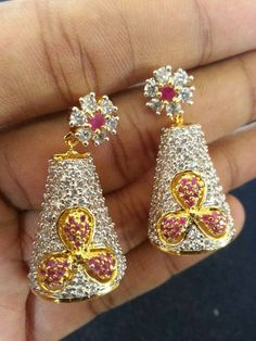 """""""Fashion earrings"""" <3 <3 Code: fae 327 Price:1990/- For booking and further details pls call or whatsapp us at +919600639563. Happy shopping y'all :) Be Beautiful :)"""