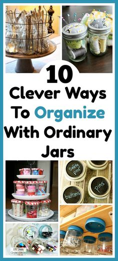 suggest replace with 10 Ways To Organize Your Home With Jars - Jars are not only functional but look pretty. They're also affordable (especially if you re-purpose jars you. Check out these 10 creative ways to organize Organisation Hacks, Kitchen Organization, Storage Organization, Storage Ideas, Storage Solutions, Declutter Your Home, Organizing Your Home, Organizing Ideas, Speed Cleaning
