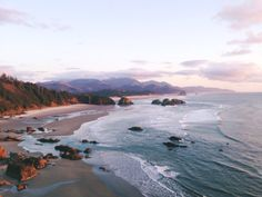 lavender-forests: Cannon Beach Oregon view from Ecola State Park. March 2 2015 lavender-forests: Cannon Beach Oregon view from Ecola State Park. State Parks, The Places Youll Go, Places To Go, Beautiful World, Beautiful Places, Letchworth State Park, Into The Wild, Cannon Beach Oregon, Travel Photography
