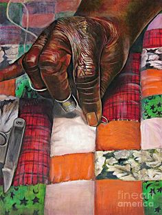 Quilting II by Curtis James - Quilting II Pastel - Quilting II Fine Art Prints and Posters for Sale Black Art Painting, Black Artwork, Music Painting, African American Artwork, African Art, African History, African Quilts, Black Love Art, Black Art For Sale
