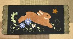 Wool Applique Rabbit pattern from Cotton Tales