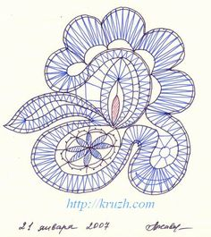 (Complete bobbin lace book with diy pillows etc. Fig.1.1. The pricking of link lace (author's work)
