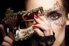 Paint a mask under your mask for when you take yours off