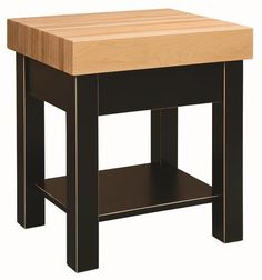 "Amish 5"" Hard Maple Butcher Block Kitchen Island Imagine preparing all those delicious fruit and vegetable salads here! Features a 5"" thick butcher block made with hard maple wood. Also includes a knife block drawer."