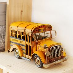 #Vintage-style #school-bus! Make your home with remarkable décor item!