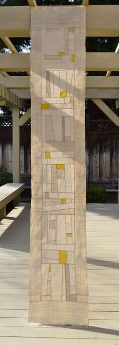 long white and yellow pojagi I really like this for bead weaving design lw Fabric Art, Fabric Design, Quilt Modernen, Textile Fiber Art, Japanese Textiles, Korean Art, Window Treatments, Table Runners, Quilt Patterns
