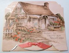 Mother's Day greetings from memory's house. #vintage #Mothers_Days #holidays #cards