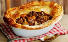 A hearty Steak and Ale Pie is as British as they come. Made with stewing steak and ale, and topped with a thick pastry crust, enjoy our recipe as an alternative to your next Sunday roast. Beef And Ale Pie, Steak And Ale, Steak Ale Pie, Irish Recipes, Pie Recipes, Baking Recipes, English Recipes, Russian Recipes, Curry Recipes