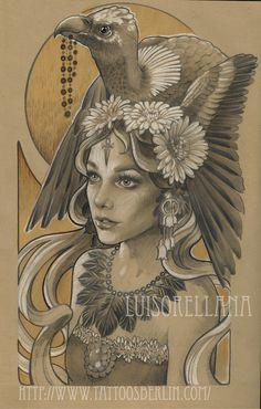 Tattoo Artwork by Luis Orellana Jugendstil in Berlin, Germany / www.tattoosberlin.com