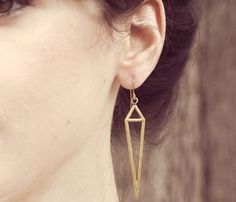 {dagger triangle earrings}