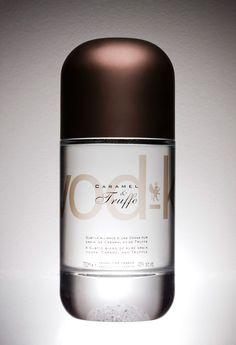 Vod-k - Caramel & Truffe vodka. Over the top #vodka loving #packaging peeps? PD