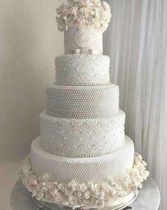 4 Tier Wedding Cake, Big Wedding Cakes, Wedding Cake Prices, Amazing Wedding Cakes, Elegant Wedding Cakes, Wedding Cake Designs, Fancy Cakes, Beautiful Cakes, Marie