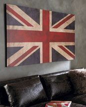 Commemorate the London Olympics With Home Decor Featuring the Union Jack British Decor, British Home, British Style, Union Jack Bedroom, Union Jack Decor, London Decor, English Decor, Flag Decor, Room Themes