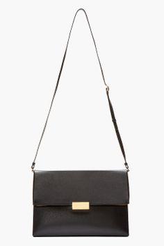 STELLA MCCARTNEY Black Faux-leather envelope Shoulder Bag