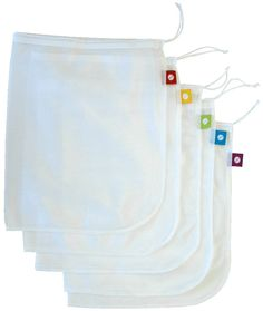 Amazon.com: flip and tumble Set of 5 Reusable Produce Bags: Reusable Grocery Bags: Kitchen & Dining