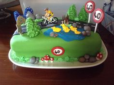 Birthday cake for cyclists
