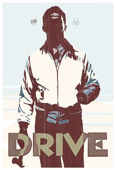 LIMITED EDITION- Drive- Movie Poster- 13x19- drive, movie poster, film, print, art, geek, geekery. $ 25.00, via Etsy.