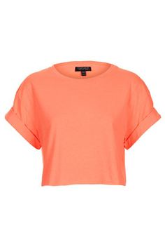 Fluro Roll Back Crop Tee - Bralets & Cropped Tops - Jersey Tops  - Clothing