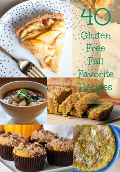 40 Gluten Free Fall Favorite Recipes - all of the best Fall flavors, in gluten free recipes! - FaveGlutenFreeRecipes.com