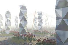 fog garden, fog collector, sustainable design, green design, water, social design, atacama desert, mist harvesting, fog harvesting, nevada m...