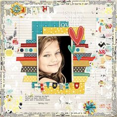 #papercrafting #scrapbook #layout Love these colors!