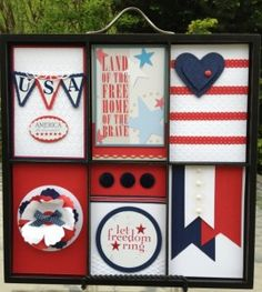 Join my Printer's Tray Club and make these patriotic decorations using Stampin' Up! products.