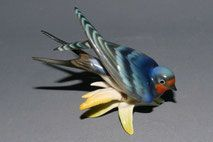 Hutschenreuther, Porzellanfigur, Schwalbe, 7,0 cm , € 55,00 Bird, Animals, Porcelain, Swallows, Animales, Animaux, Birds, Animal Memes, Animal