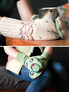 Make this Homemade Holiday Gift: Upcycled Sweater Felted Mittens — HOMEMADE HOLIDAY GIFT IDEA EXCHANGE: PROJECT #14 | Apartment Therapy