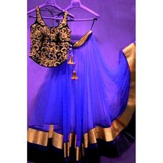 Bollywood Replica - Designer Net Blue Lehenga Choli - EBSFLC234002C
