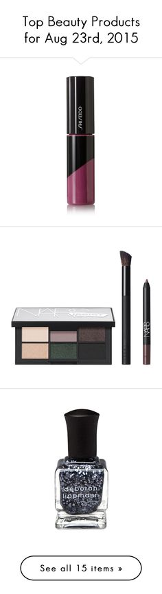 """""""Top Beauty Products for Aug 23rd, 2015"""" by polyvore ❤ liked on Polyvore featuring beauty products, beauty accessories, bags & cases, bags, white, make up purse, travel bag, wash bag, dop kit and make up bag"""