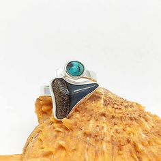 Your place to buy and sell all things handmade Handmade Sterling Silver, Sterling Silver Jewelry, Great White Shark Teeth, Old Stone, Gemstone Rings, Buy And Sell, Gemstones, Stuff To Buy, Gems