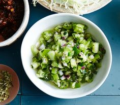 A cooling and crunchy green version of the typical salsa.