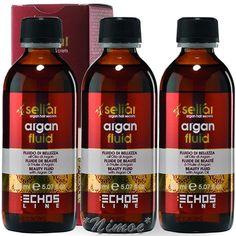 Argan Precious Fluid Leave-in 3 x 150ml Seliar ® Olio Semi di Lino Proteine Seta