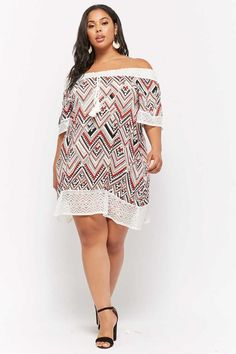 Plus Size Geo Print Off-the-Shoulder Dress $28.00 #ootd #style #fashion #chic #elegant #streetstyle #fashionable #fashionblogger #stylish #stylist #outfitpost #fashionblog #designer #hautecouture #fashionista #instafashion #trendy #trend #beauty #dresses #details #moda #art #vogue #accessories #sandiego #plussize #dress #fashionblogg #fashions