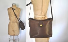Coach Brown Leather Bag Purse by badbabyvintage on Etsy